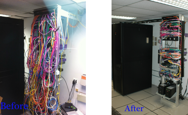 don't let your wiring become a nightmare  contact us and we will provide a  free quote to rewire your racks